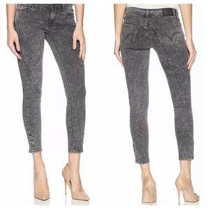 LEVI'S 535 Super Skinny Gray Button Ankle Jean 29